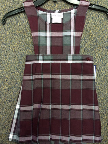 Jumper - Plaid 91 Box Pleat Skirt, Pinafore Top Jumper
