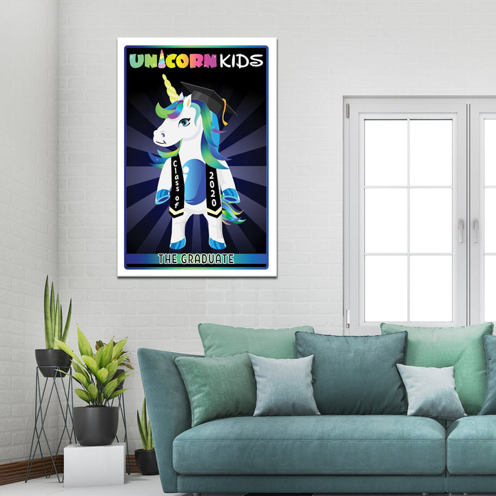 Graduation Unicorn - Blue - Kidspiration Art