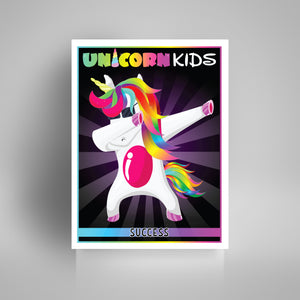 Dabbing Unicorn - Pink - Kidspiration Art