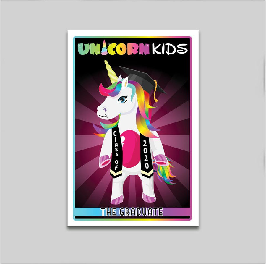 Graduation Unicorn - Pink - Kidspiration Art