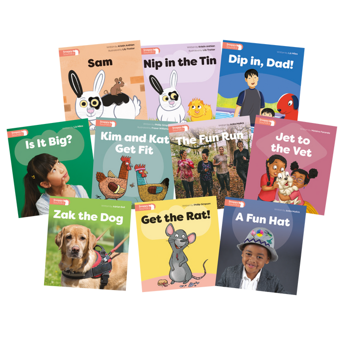 Snappy Sounds F Decodable Books Level 1 Pack (1 copy of 10 titles)