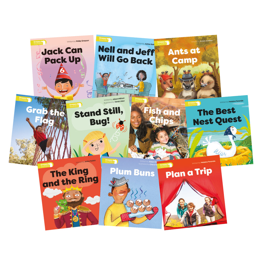 Snappy Sounds F Decodable Books Level 2 Pack  (1 copy of 10 titles)
