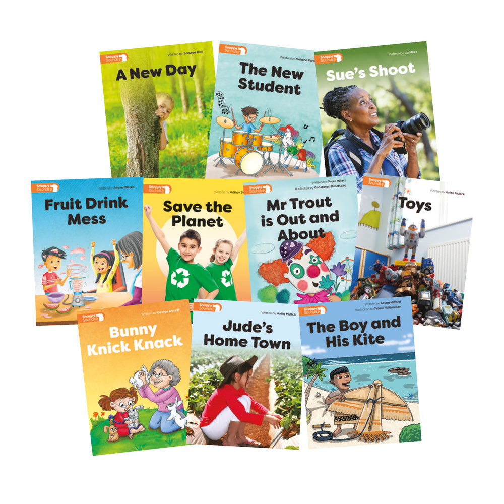 Snappy Sounds Y1 Decodable Books Level 6 Pack  (1 copy of 10 titles)