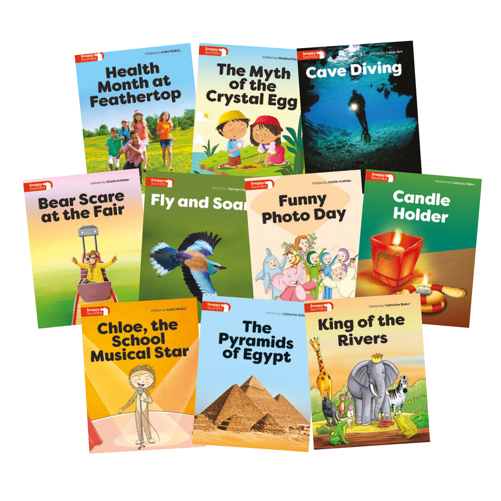 Snappy Sounds Y1 Decodable Books Level 8 Pack  (1 copy of 10 titles)