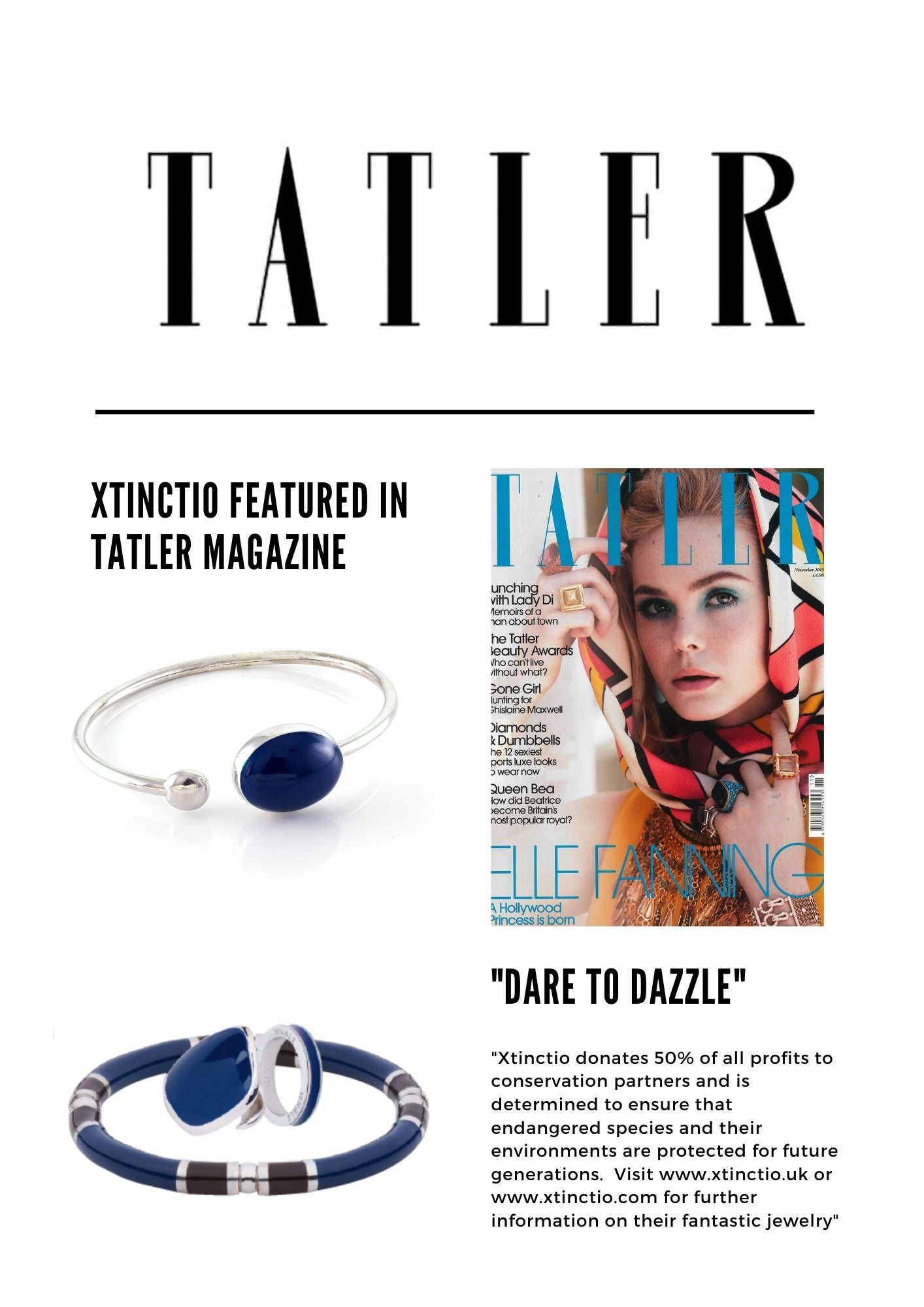 Xtinctio featured in Tattler Magazine