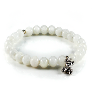 Moonstone Bracelet with Polar Bear Charm