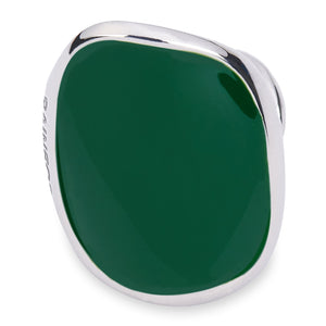 Xtinctio rainforest Vanguard Ring Hand Made in Italy by a 3rd generation goldsmith using the ancient and rarely used Etruscan enamel technique. eco-conscious jewelry ,