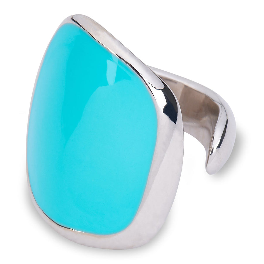 Xtinctio Ocean Vanguard Ring Hand Made in Italy by a 3rd generation goldsmith using the ancient and rarely used Etruscan enamel technique. eco-conscious jewelry ,