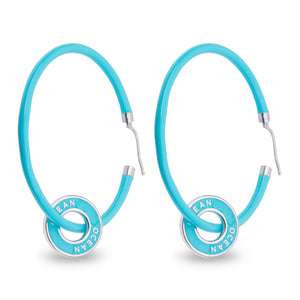 Ocean Pendant Hoop Earrings