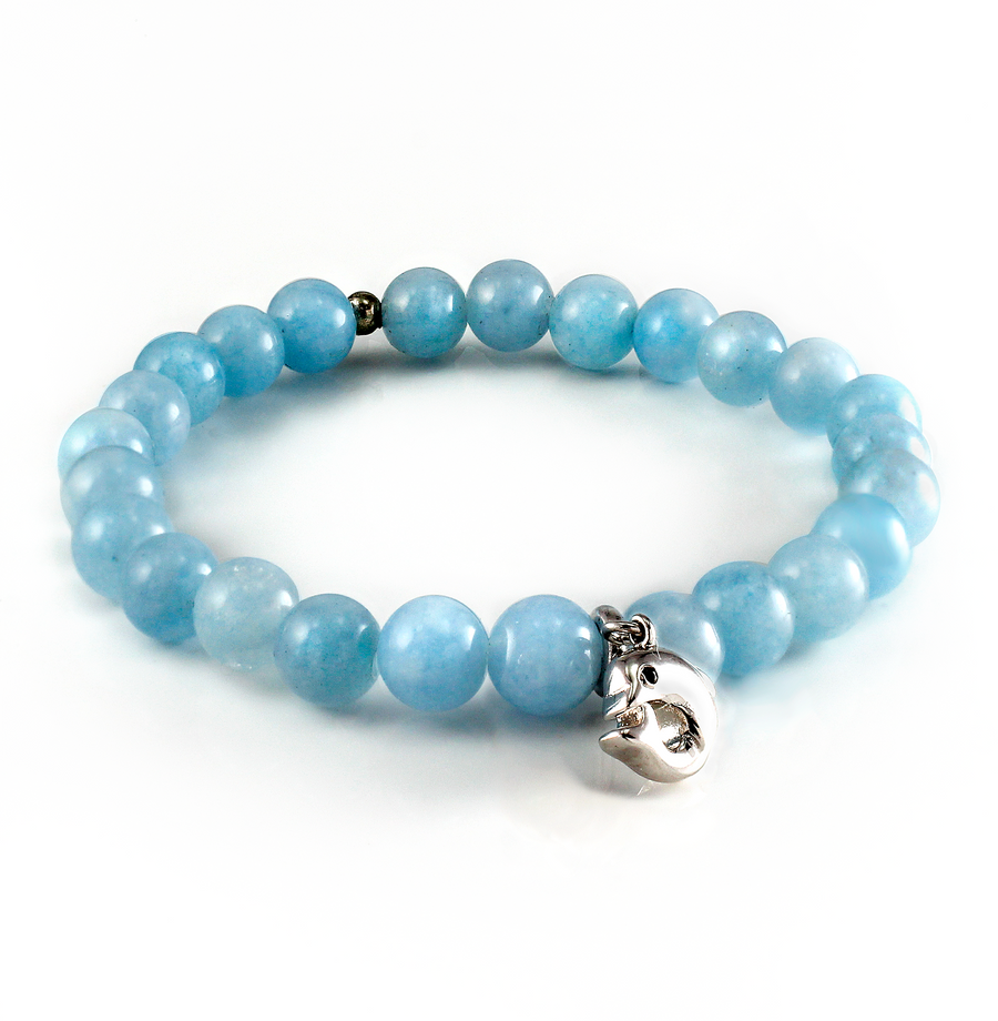 Xtinctio Aquamarine Beaded Bracelet is lovingly hand made and represents our commitment to protect the Ocean
