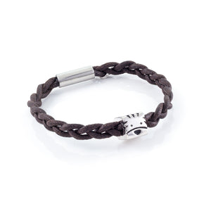 Tiger Waxed Cord  Bracelet