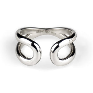"Xtinctio This 'Together Ring' in 925 Sterling Silver is engraved with the word ""TOGETHER"" that symbolizes our interdependence with everything on earth. It is a positive reminder of our connection to every living thing in this age of extinction.  50% of all profits go towards protecting the most endangered species on the planet earth."