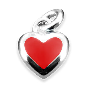 Xtinctio -  The S925 Heart Red Enameled pendant hangs on a 925 sterling silver necklace and represents your commitment to protecting wildlife.  Xtinctio donates 50% of our profits to organizations that protect the most endangered species on earth and their habitats.