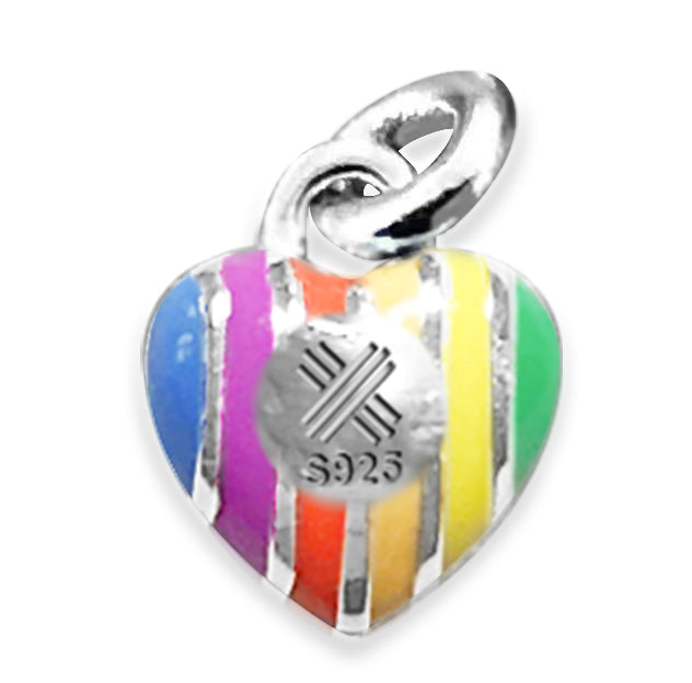 Rainbow Hope Heart Necklace