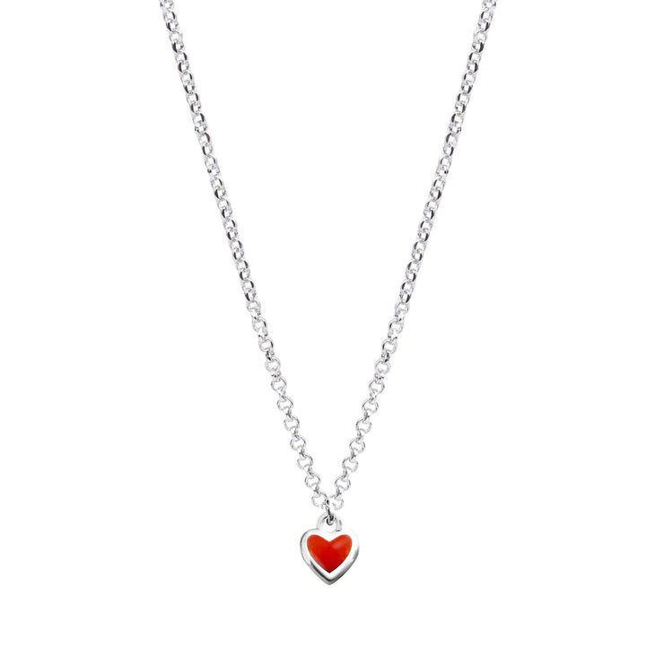 Xtinctio -  The S925 Heart Red Enameled pendant hangs on a 925 sterling silver necklace and represents your commitment to protecting all wildlife.  Xtinctio donates 50% of our profits to organizations that protect the most endangered species on earth and their habitats.