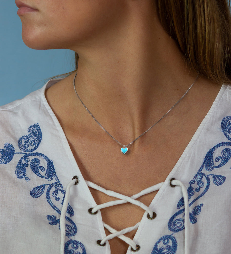 Ocean  Heart  Necklace