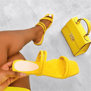 Women's simple solid color flat slippers