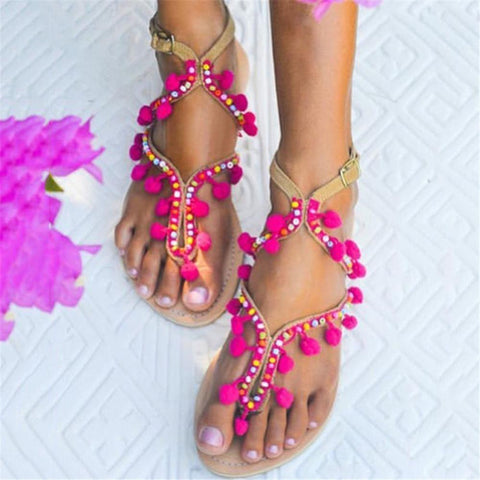 Women's Bohemian Color Flat Sandals