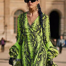 Fluorescent Leopard Street Dress