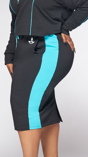 Active Skirt (Black/Turquoise)