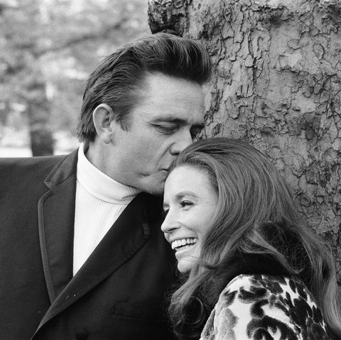American country singer johnny cash with his wife June Carter