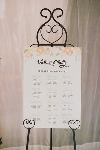 wedding stationary at a wedding ceremony