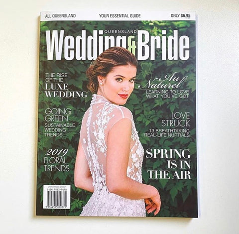 wedding and bride magazine cover