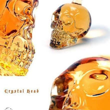Load image into Gallery viewer, Crystal Head Skull Bone Vodka Whiskey Glass Bottle Decanter Cup Home Bar 350 Ml