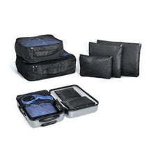 Load image into Gallery viewer, 5 Piece Storage Bags / Packing Cubes / Luggage Organizer Set Black