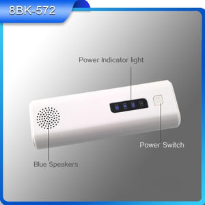 Bluetooth Speaker AND Mobile Power Bank with Flashlight and Stand Function