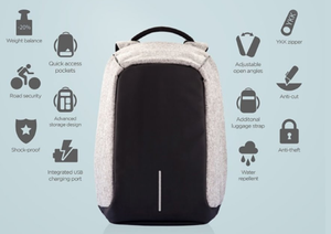 Anti Theft Laptop Backpack with External Usb Charging Port, Water Proof