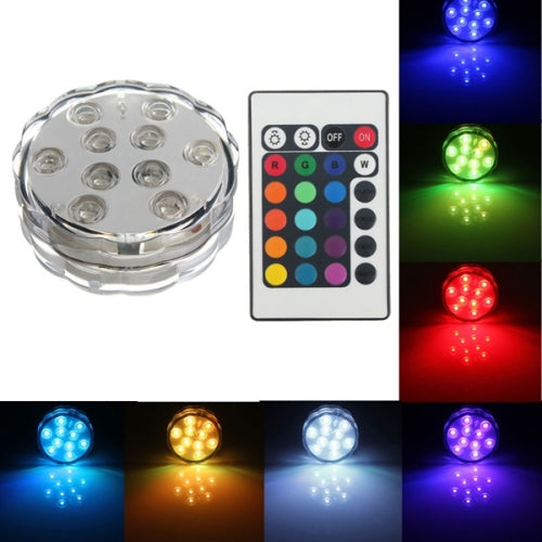 Submersible Waterproof 10 Led light with remote