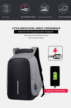 Load image into Gallery viewer, Anti Theft Laptop Backpack with External Usb Charging Port, Water Proof