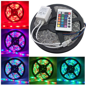 RGB 5M Waterproof LED Flexible Light Strip + Remote + 12v Adapter