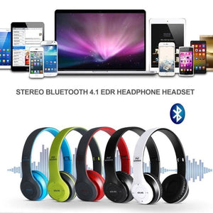 Wireless Bluetooth 4.1 EDR Headphone Microphone Stereo Headset