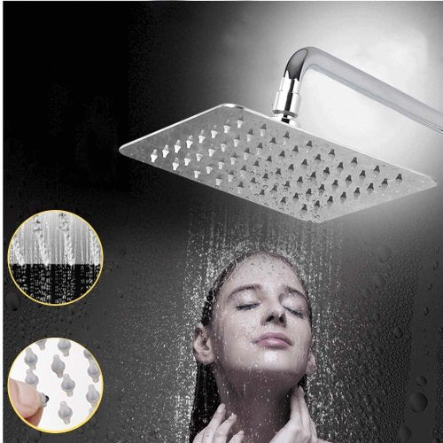 RAINFALL SHOWER HEAD 200MM X 200MM - 100% STAINLESS STEEL !!