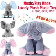 Load image into Gallery viewer, Musical Talking & Singing Elephant Blue