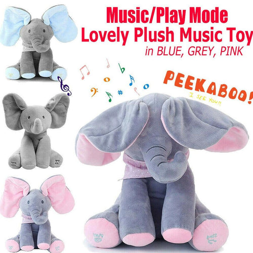 Musical Talking & Singing Elephant Blue