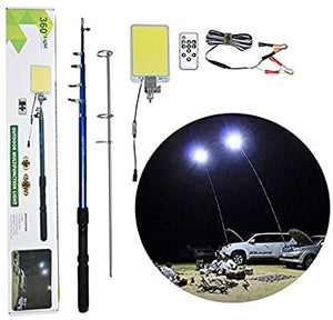 High Power Ultra Bright Telescopic Fishing Rod Led Camping Light for Outdoor with Remote