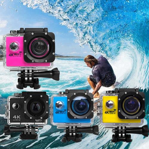 4K Ultra HD WiFi Waterproof Action Camera with remote