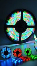 Load image into Gallery viewer, RGB 5M Waterproof LED Flexible Light Strip + Remote + 12v Adapter