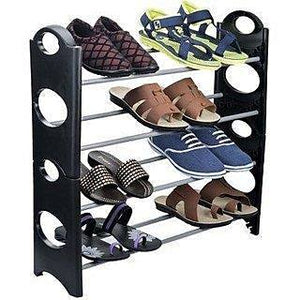 Household 4-Tier Stackable Shoe Rack & Organizer