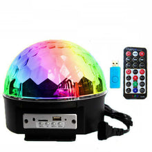 Load image into Gallery viewer, 12W bluetooth Voice Control LED Magic Disco Ball Stage Lamp Colorful MP3 with Remote