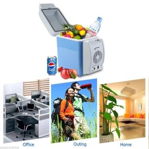 Portable Car Electronic 2-in-1 Cooling & Warming  Fridge 7.5 litre