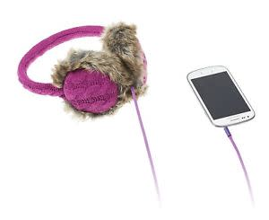 Kitsound Chunky Knit Audio Headphones Earmuffs - Purple
