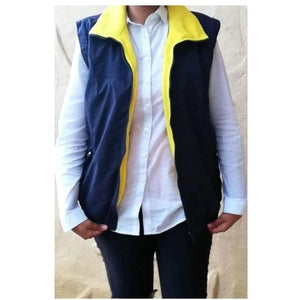 Waterproof Navy Zip up Bodywarmer - Size Medium