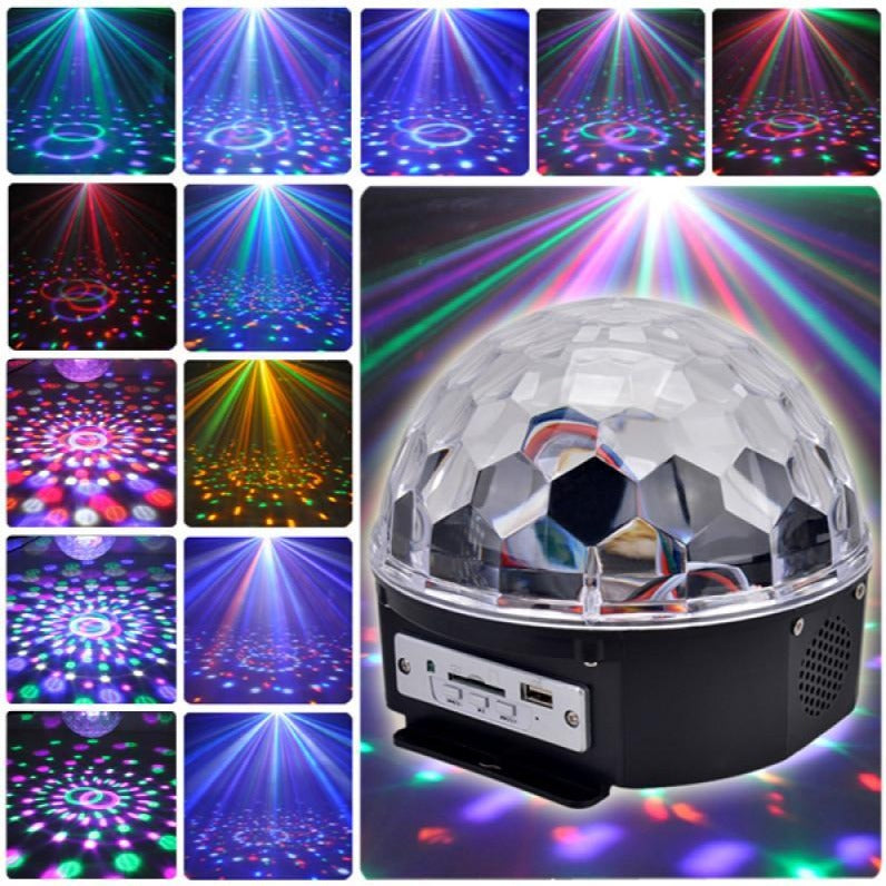 12W bluetooth Voice Control LED Magic Disco Ball Stage Lamp Colorful MP3 with Remote