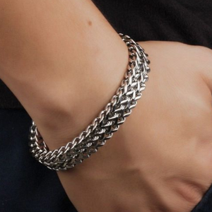 Never Fade 316L Stainless Steel Punk Style 12mm Bracelet
