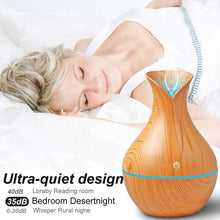 Load image into Gallery viewer, Ultrasonic Aroma Humidifier with Colour-Changing LED