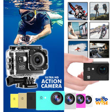 Load image into Gallery viewer, Full Hd 1080p Action Sports Camcorder - Waterproof up To 30 M
